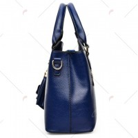 Concise Pendant and Solid Color Design Tote Bag For Women