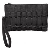 Fashion PU Leather and Solid Color Design Clutch Bag For Women