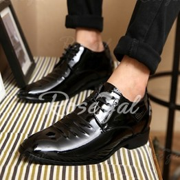 Fashion Black and Lace-Up Design Men's Formal Shoes
