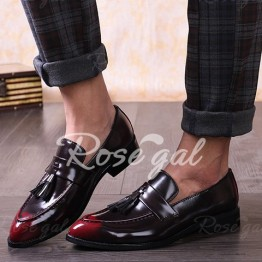 Fashion Tassels and PU Leather Design Men's Formal Shoes