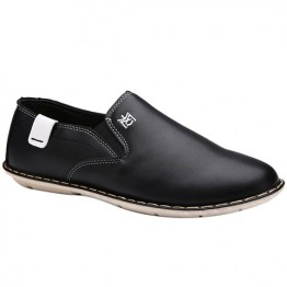 Simple PU Leather and Stitching Design Casual Shoes For Men