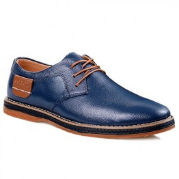 Simple Style Round Toe and Solid Color Design Men's Formal Shoes