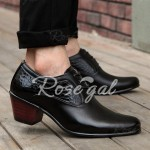 Trendy Stone Pattern and Black Design Men's Formals Shoes