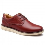 Vintage Style Engraving and PU Leather Design Men's Formal Shoes