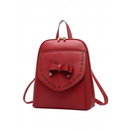 Bowknot PU Leather Backpack