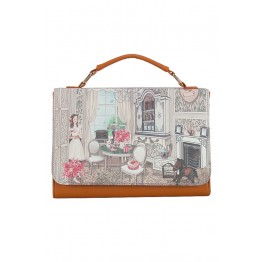 Luxury House Graphic PU Shoulder Bag